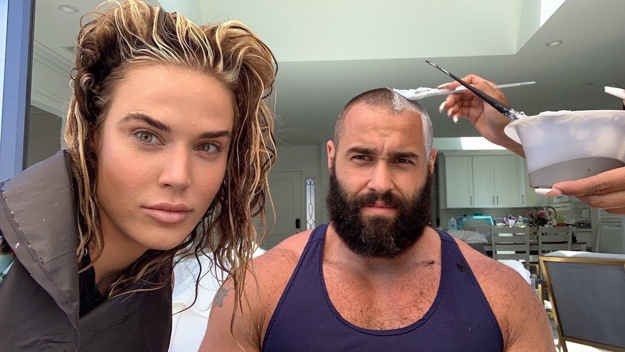 Bleaching Miro (#Rusev) hair! | Lana WWE | CJ Perry