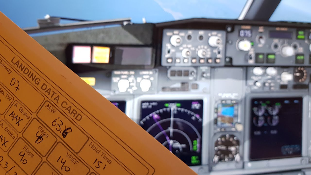 BOEING 737 NG - LANDING DATA CARD