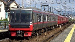 【4K】名古屋鉄道3100系(東芝IGBT-VVVF)、3500系、3300系、3150系、2200系、1700系・2300系、1000系・1200系到着・発車・通過シーン集 2018.8