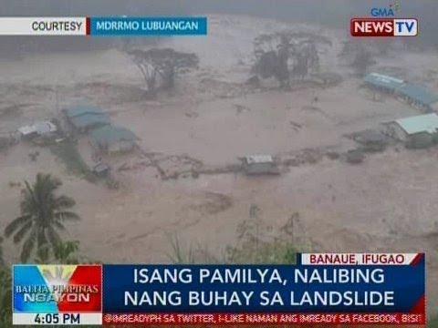 BP: Isang pamilya, nalibing nang buhay sa landslide sa Banaue, Ifugao