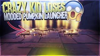 Crazy Kid Loses Modded Pumpkin Launcher! (Scammer Gets Scammed) Fortnite Save The World