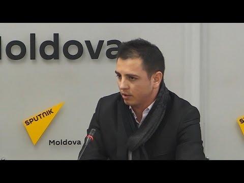 Ruslan Flistoc în studioul Sputnik Moldova