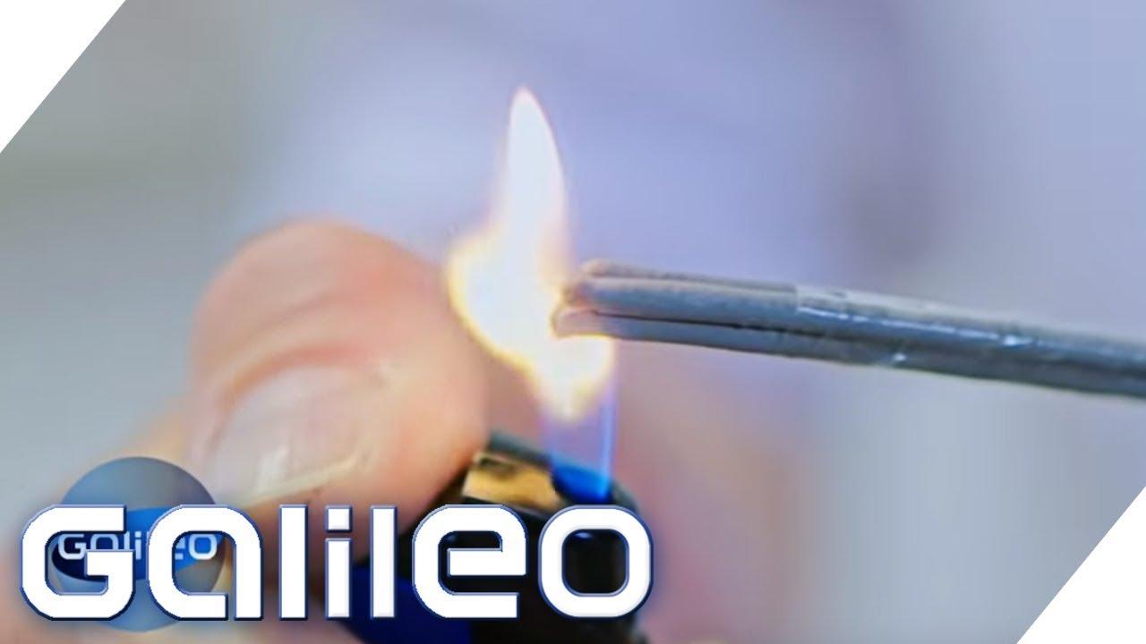 So brennt eine Wunderkerze unter Wasser | Galileo | ProSieben