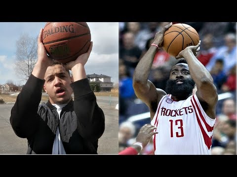 RECREATING NBA BASKETBALL SHOOTING FORMS!! (JAMES HARDEN, STEPH CURRY & MORE)