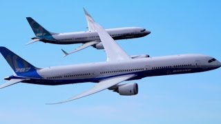 See Boeing's two new jets fly in unison thumbnail