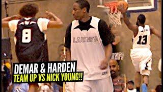 James Harden & DeMar DeRozan TEAM UP vs Nick Young! Friendly TRASH TALK! Winner Gets Bragging Rights