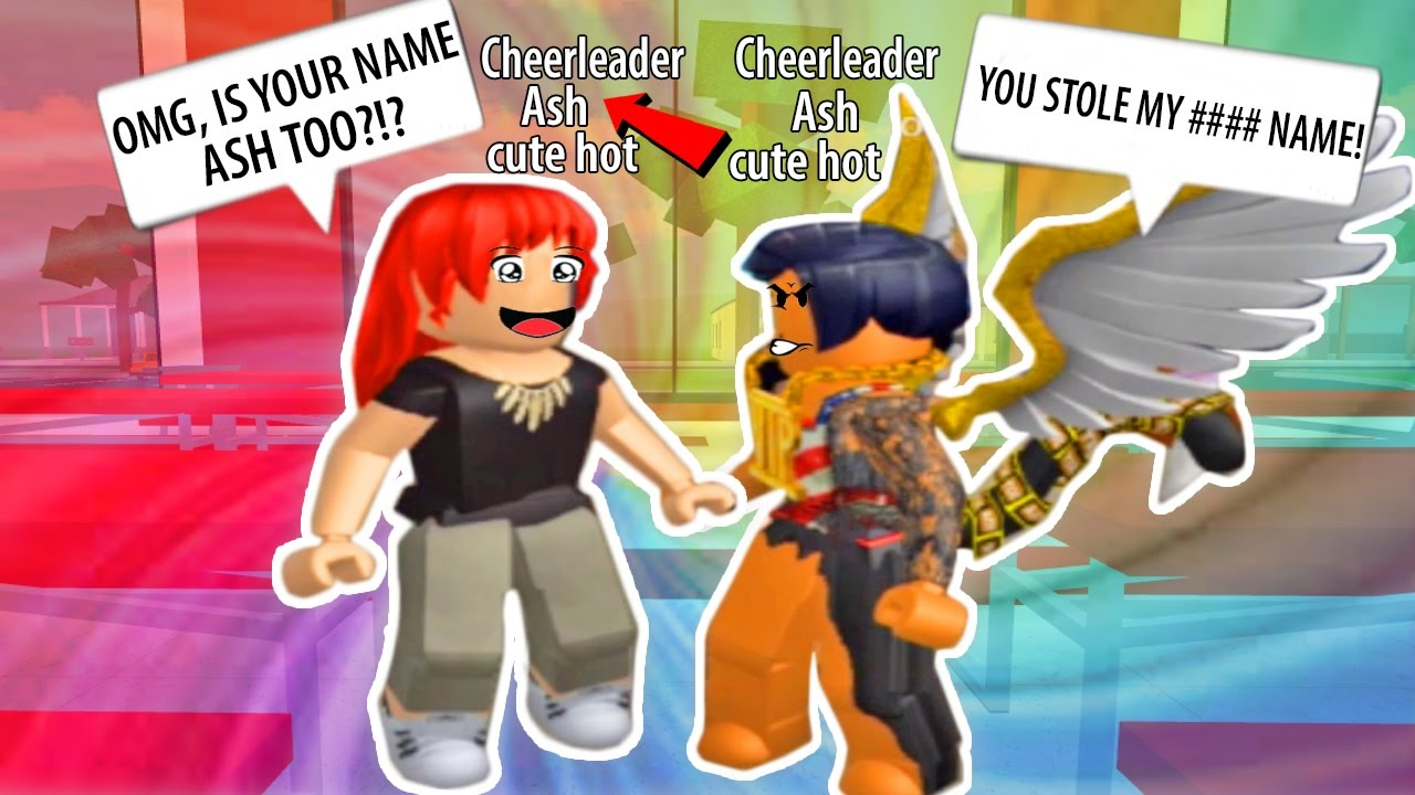 STEALING PEOPLE'S NAMES IN ROBLOX! ROBLOXIAN HIGH SCHOOL