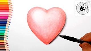 How to Draw a 3D Heart Easy ❤ Как нарисовать СЕРДЦЕ в 3D поэтапно