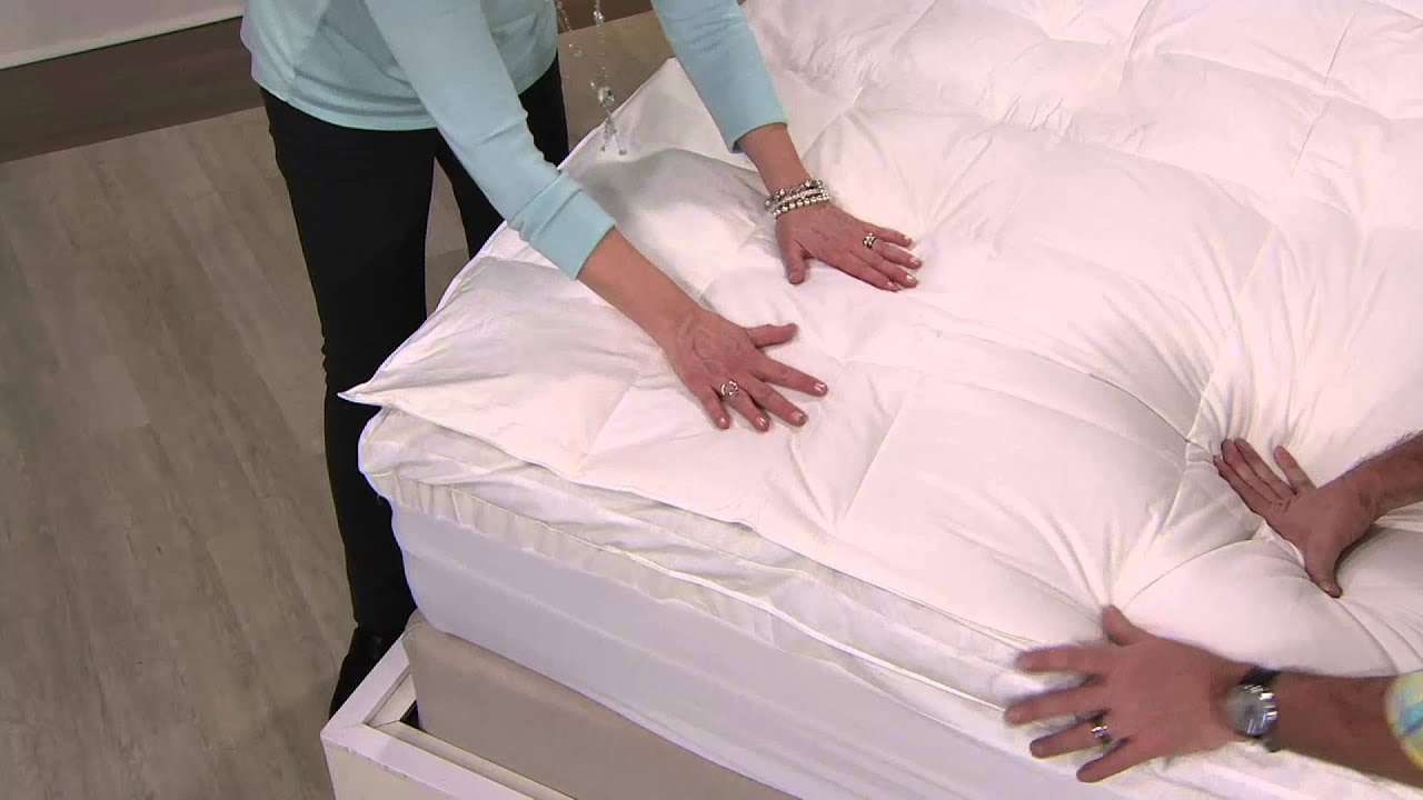 comfort evolution down feather u0026 memory foam mattress topper on qvc