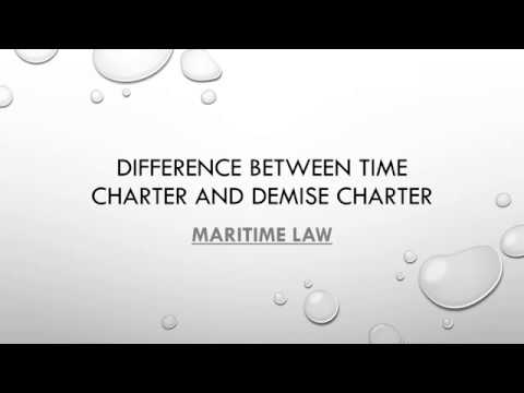 Difference between time charter and demise charter