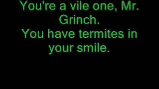 Mr. Grinch Lyrics performed by Thurl Ravenscroft