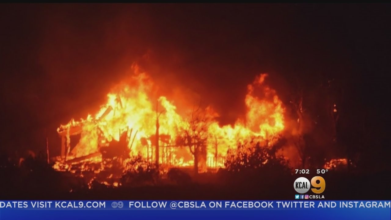 Brush fire near Santa Barbara threatens homes and triggers ...