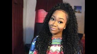 Half Up Half Down Quickweave | VIP Beauty Hair Brazilian Curly Hair