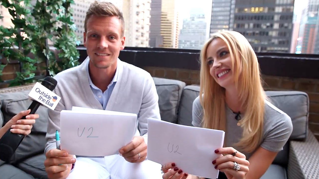Tomas Ester Berdych Play The Newlywed Game And Prove They Are The