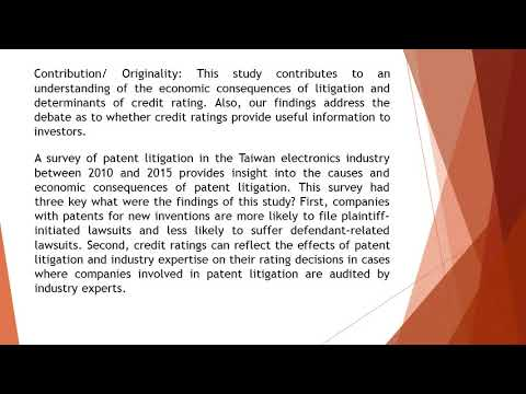 The Causes and Economic Consequences of Patent Litigation  AEFR 711 1123 1143