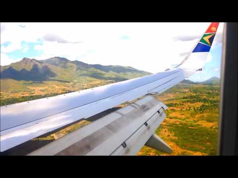 South African Airways SA172 Johannesburg to Blantyre Malawi Gusty Approach [HD]