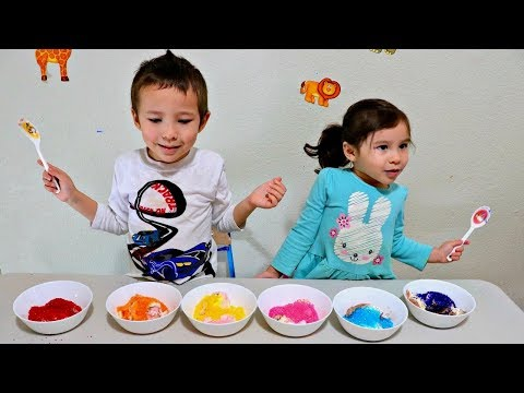 Toddlers Playing and Learning with Ice Cream - Learn Colors Activity for Children and Preschool Kids