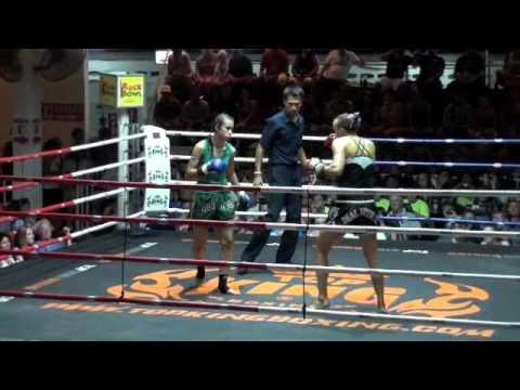 Marylene (Tiger Muay Thai) wins via TKO in rd 2 @ Patong Thai Boxing Stadium