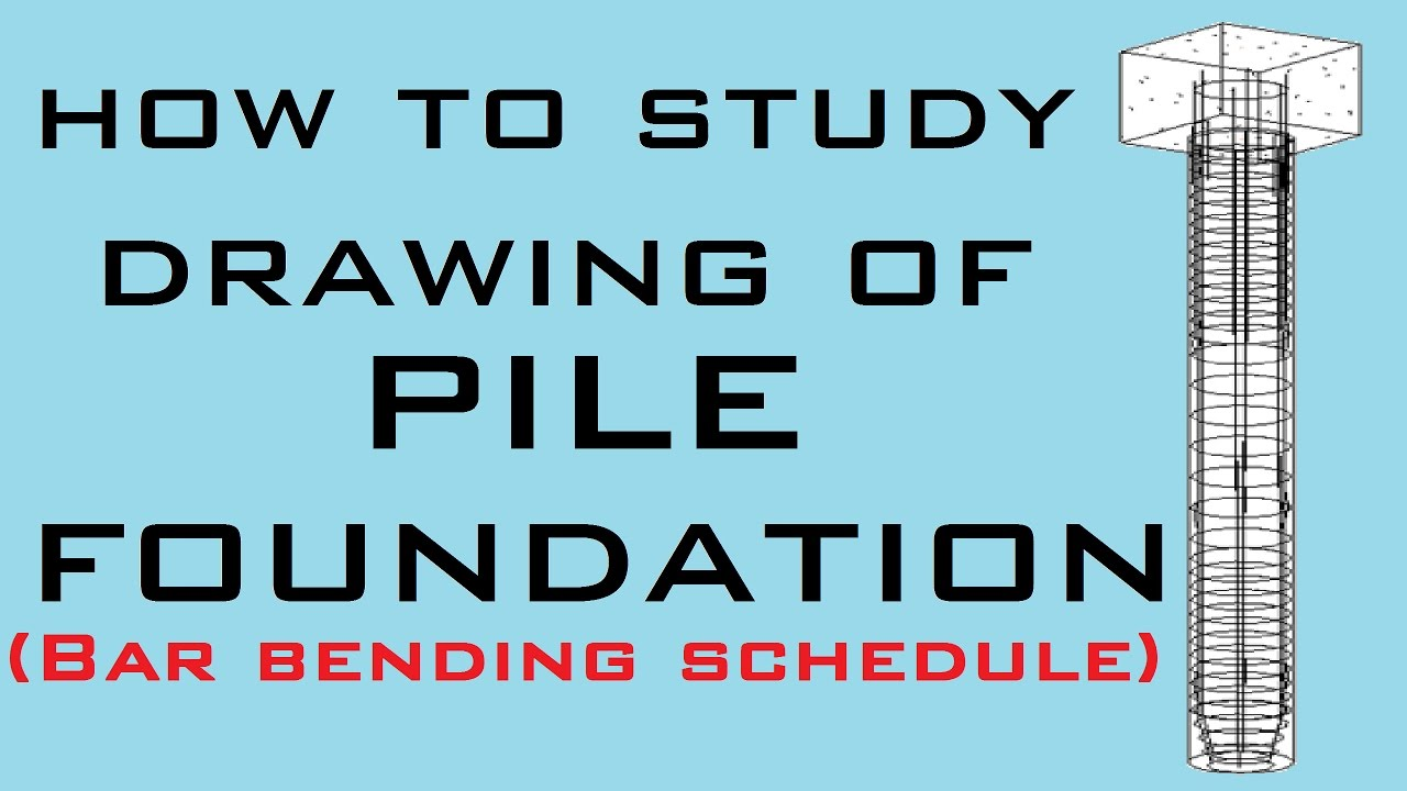 How to make BBS of Pile Foundation | Learning Technology