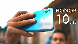 [HINDI] Huawei Honor 10 Lite hands on REVIEW and UNBOXING [CAMERA, GAMING, BENCHMARKS]