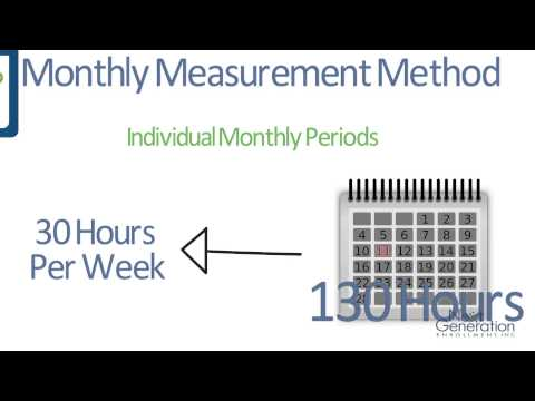 The Monthly Measurement Period and Tracking Employee Hours