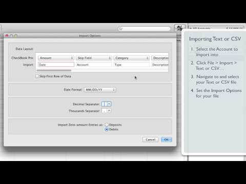 CheckBook Pro • Importing a Tab-delimited Text or CSV file