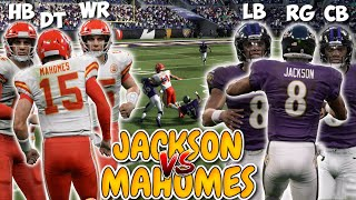 Team of LAMAR JACKSON'S vs Team of PATRICK MAHOMES! (Best Player Tournament!)