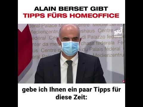 Bundesrat Alain Berset gibt Tipps fürs Homegffice
