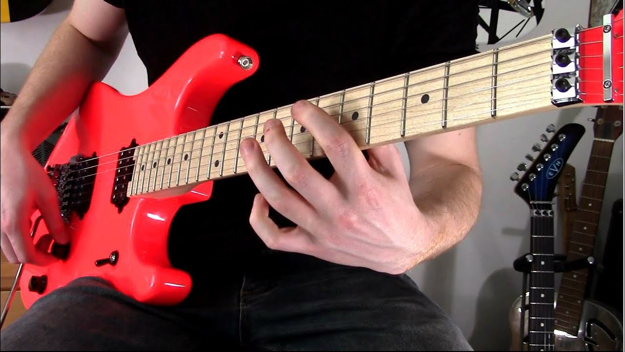 Big Van Halen Riffs Solos Mashup Roth Hagar Eras Evh 5150 Standard And Deluxe Youtube