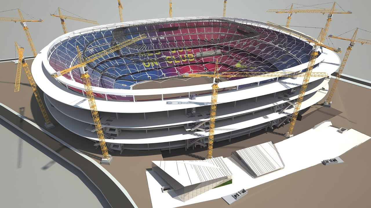 New Camp Nou Phased Construction While Continuing To Play Matches