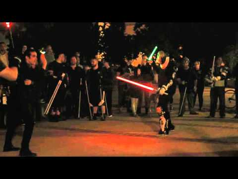 Underground Lightsaber Fighters in San Diego