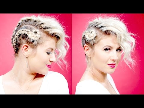 Creative Short Hairstyles: EDGY UPDOS Tutorial | Milabu