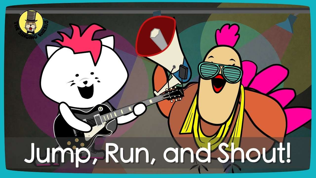 Jump Run And Shout Action Song For Kids The Singing Walrus