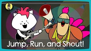 Download Video Jump, Run and Shout! | Action song for kids | The Singing Walrus MP3 3GP MP4