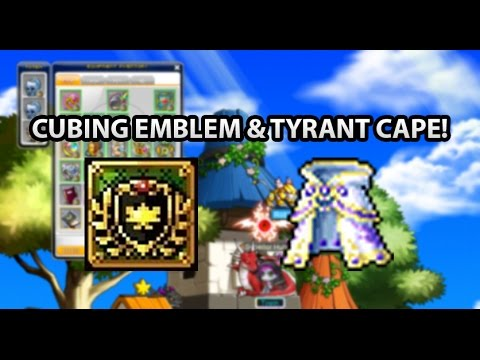[GMS Reboot] Cubing Maple Leaf High Emblem & Tyrant Cape!