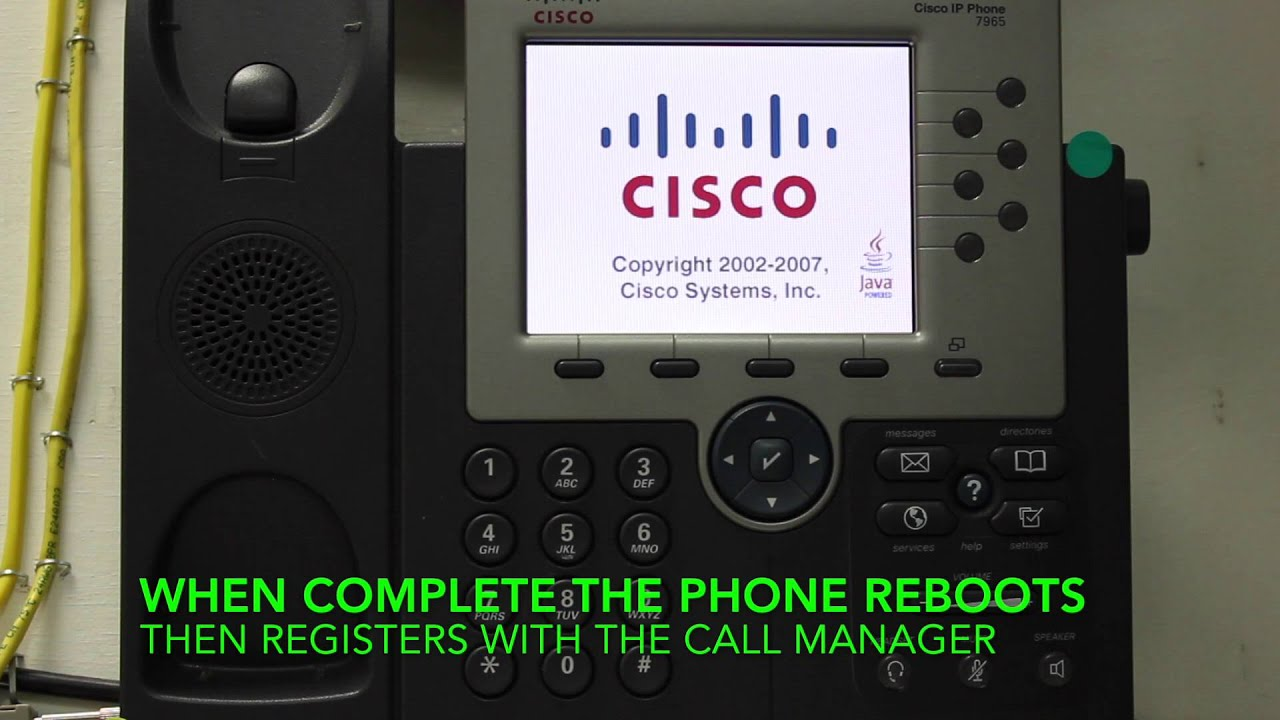 Factory Reset Cisco 7965 to Default in Real Time