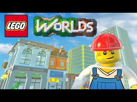 LEGO Worlds - LEGO City Building, TOWN HALL, Police Station & More! (LEGO Worlds)