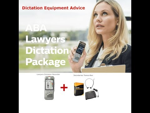Dictation Equipment
