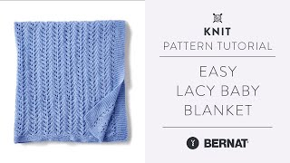 How To Knit A Lace Baby Blanket   Easy Pattern Tutorial