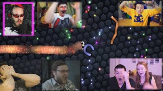 'Реакции Летсплейщиков' на Поражение в Slither.io