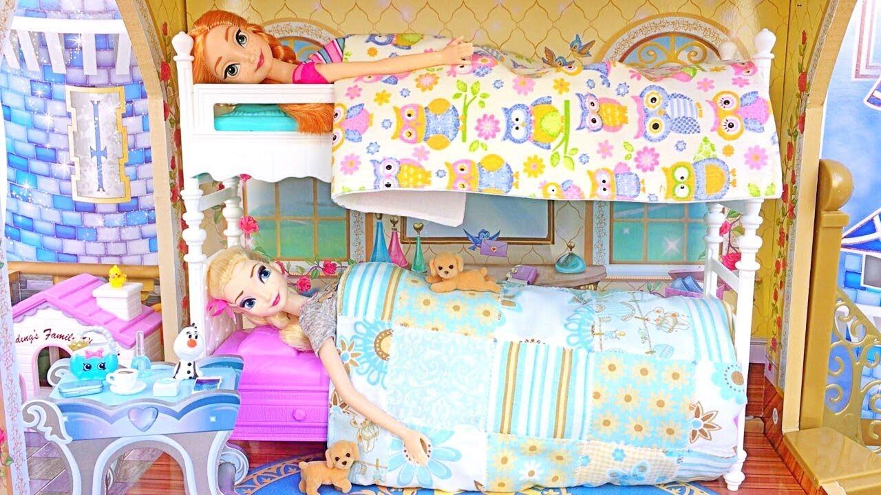 Barbie Bunk Bed💙elsa Anna Frozen💙princess Bedroom