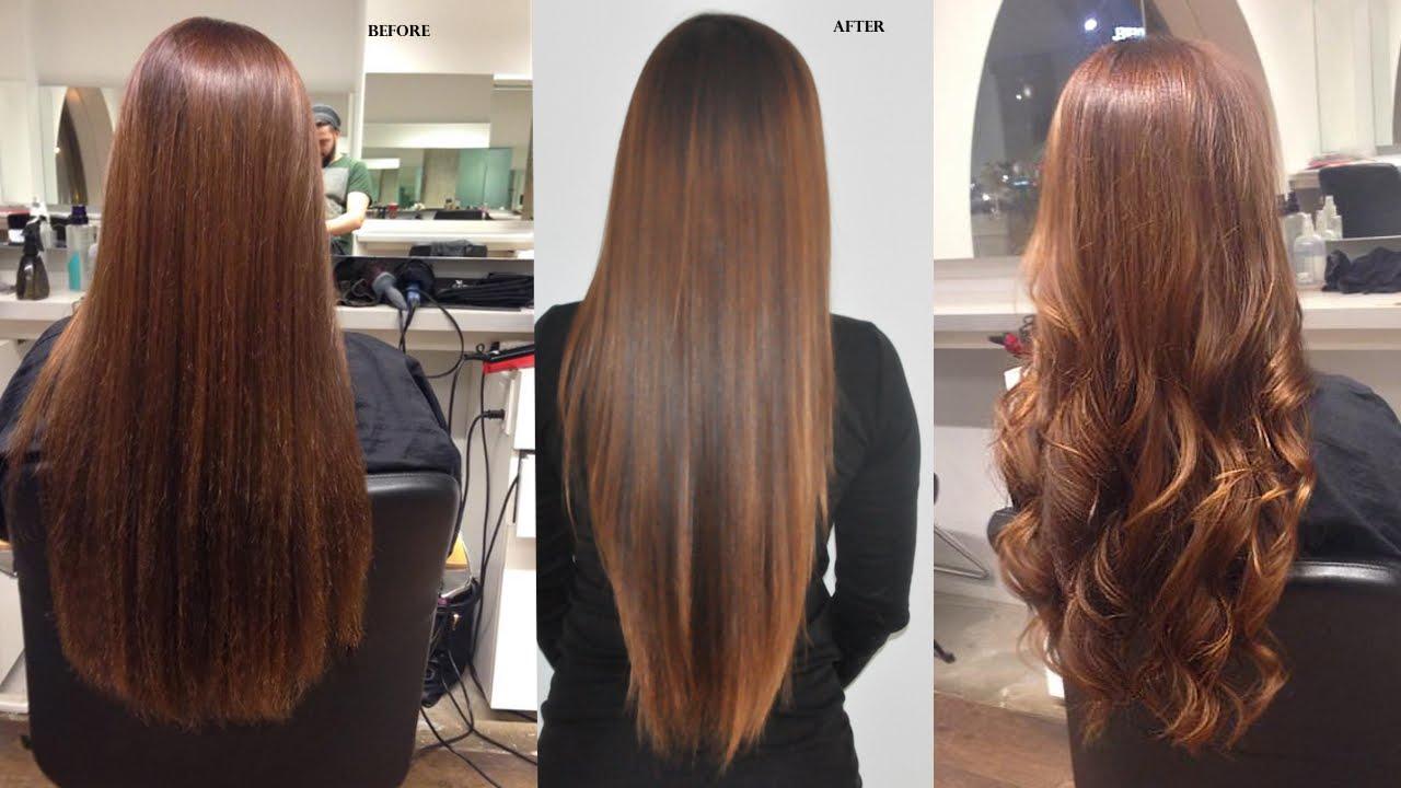 Как сделать кератиновое выпрямление волос фото 878