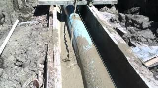 Cellular Concrete for Pipe Backfill