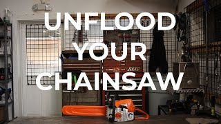 How to Unflood your Chainsaw - MainStreetMower