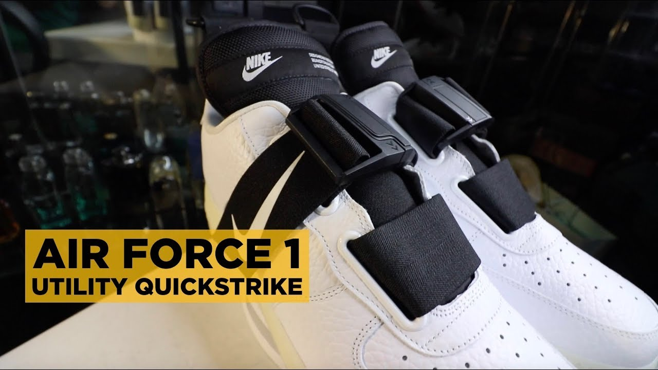 5674e756a0e6 NIKE AIR FORCE 1 UTILITY QUICK STRIKE ON-FEET REVIEW - YouTube