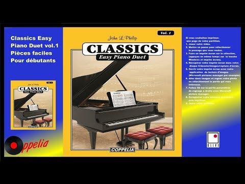 PARTITIONS- MÉTHODE DE PIANO  CLASSIQUE DUET VOL.1 POUR DÉBUTANTS - COPPELIA OLIVI