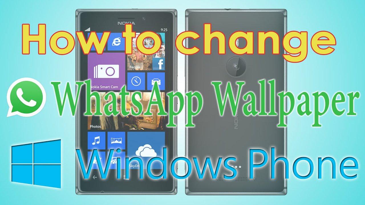 Whatsapp hintergrund andern windows phone