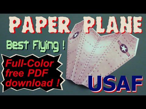 PAPER PLANE - Full Color - FREE pdf download for LASER print - USAF