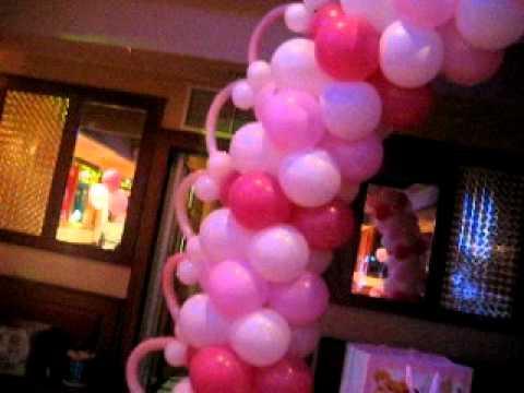 Decoracion con globos bautizo de ni a youtube - Decoracion bautizo nina ...