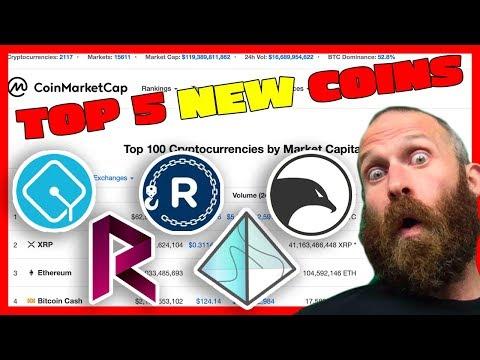 Top 5 NEW Cryptocurrencies On CoinMarketCap